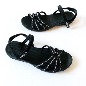 Teva Kayenta Sandals in Black and Silver | 8.5